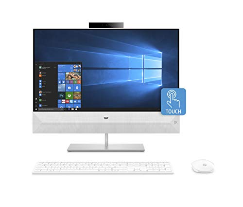 HP Pavilion 24-xa0607ng All-in-One PC (24 Zoll FHD Touchscreen) Intel Core i7-8700T, 16GB DDR4 RAM, 512GB SSD NVMe, 2TB HDD, nVidia Geforce GTX 1050 4GB DDR5, Windows 10 Home weiß