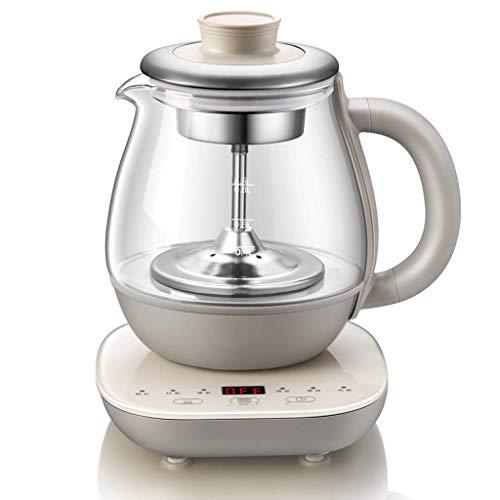 Elektrischer Wasserkocher Glaskessel Multifunktions-Teekocher Gesundheitstopf Automatische Multifunktions-Verdickungsglas-Wasserkocher Schwarze Teekanne