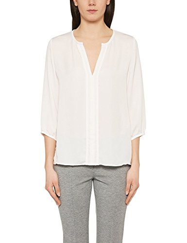 Marc Cain Essentials Damen Bluse +E5132W38, Elfenbein (Off-White 110), 44 (6)