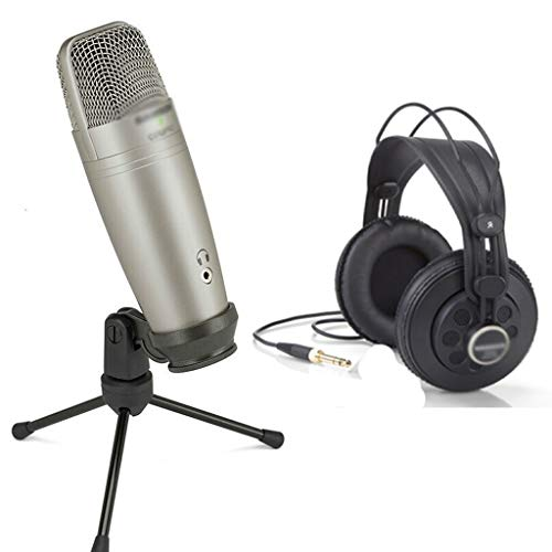 XJJZS Microphone Real-time Monitoring Large Diaphragm Condenser Microphone Plug & Play Stand Large capacity microphone (Size : Style two)