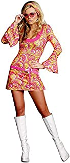 Adult's Womens Sexy 70s Go Go Gorgeous Girl Dress Costume