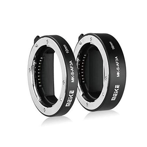 Meike MK-S-AF3A 10mm+16mm AF Auto Focus Macro estensione tubo adattatore per fotocamera Sony Mirrorless a6300 a6000 a7 a7SII NEX E-Mount FE