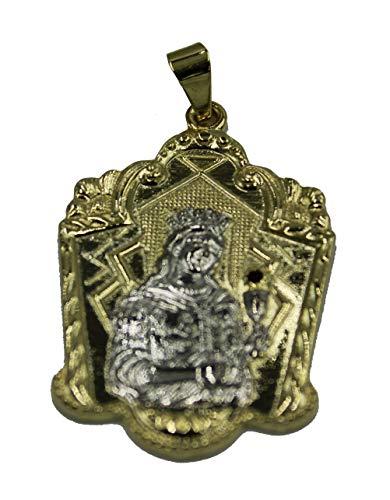 Medalla de Santa Bárbara de Diamantados of Florida, Sta. Medalla de Barbara de dos tonos chapada en oro de 18 quilates con cadena de 56 cm