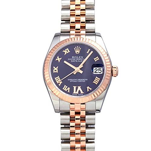 ロレックス ROLEX デイトジャスト 178271 パープルローマ(VIダイヤ)文字盤 中古 腕時計 レディース (W208110) [並行輸入品]
