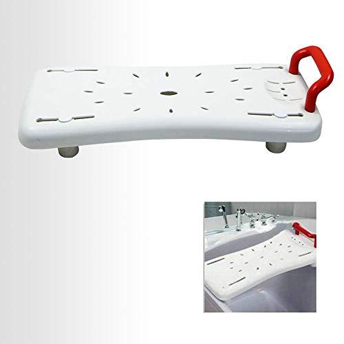 ZXL Draagbare badbank, badkuipstoel, instelbare breedte, geschikt voor de meeste badkuipen, met veiligheidsleuningen