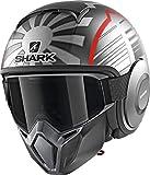 Shark Casco Jet Drak Street Replica Zarco Malaysian GP Antracite Grigio Rosso ASR Taglia M