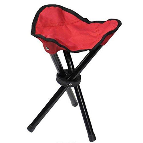 Taburete plegable de Cosanter con 3 patas, cómoda silla para pesca, camping,...