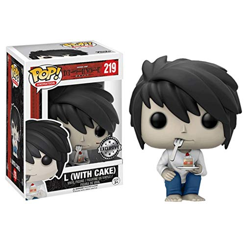 MXXT Funko Pop Animtion : Death Note - L (with Cake) 3.75inch Vinyl Gift for Anime Fans Chibi