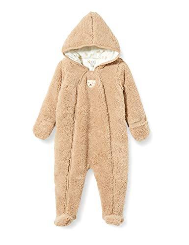 Steiff Baby-Jungen mit süßer Teddybärapplikation Einteiler, Oxford TAN, 080