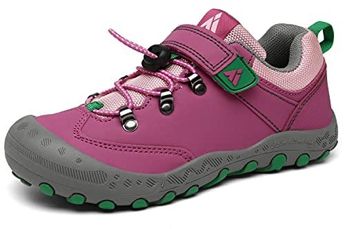 Mishansha Mädchen Wanderschuhe Kinder Sportschuhe Jungen Leicht rutschfest Turnschuhe Pink 28