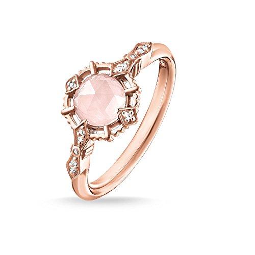 THOMAS SABO Damen Ring Vintage rosa 925Er Sterlingsilber; 750Er Roségold Vergoldung D_TR0043-925-26