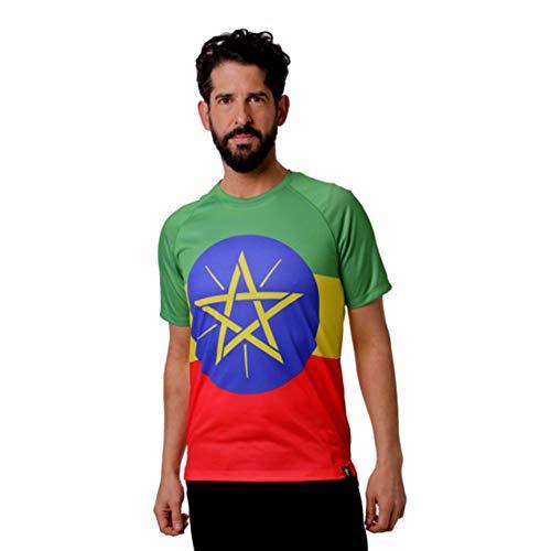 hoopoe running apparel Leichtathletik Äthiopischer Mann, Kurzarm, Laufen, Fitnessstudio #AdisaBeba Größe S