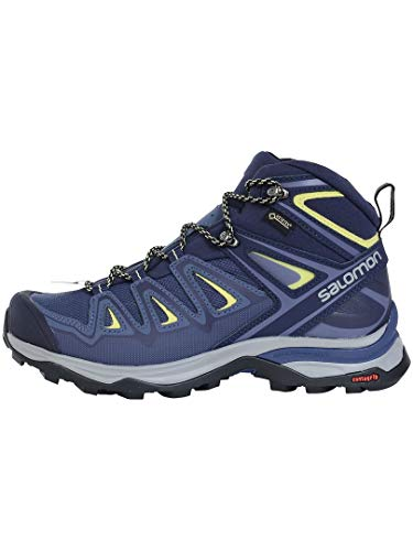 Salomon Damen X Ultra 3 Wide MID GTX W Wandern, Blau Crown Blue Evening Blue Sunny Lime 000, 41 EU