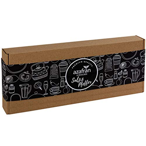 Azafran BIO Pfeffer und Salz Geschenk Set / Geschenkbox