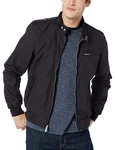 Members Only Men's Original Iconic Racer Jacket, Black, 3X