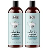 Kids Shampoo and Conditioner | Natural Gentle 2-in-1 Kids Soap | Made in USA | Argan Orange Vanilla Shea | 2x16oz | Made Without Sulfate