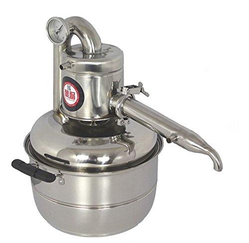 New 10L Water Alcohol Distiller Home Brew Kit Still Wine Making Essential Oil Boiler 110V FOR USA, 220V FOR OTHERS