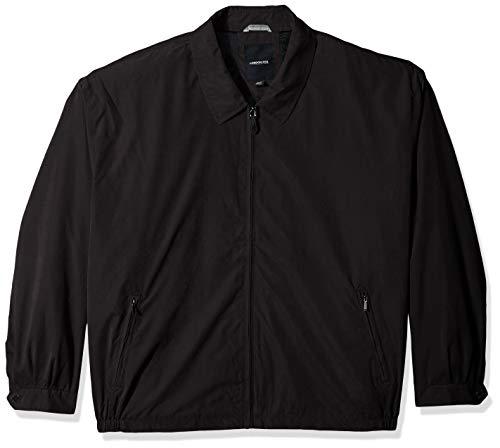 LONDON FOG Men s Auburn Zip-Front Golf Jacket (Regular & Big-Tall Sizes), Black, Large