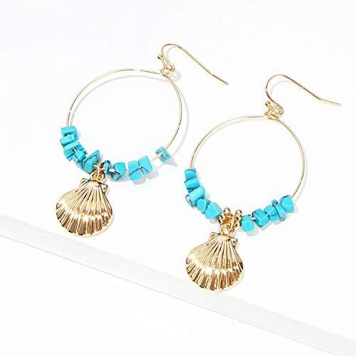 SALAN Bohemia Pendientes Largos para Mujer Boho Jewelry Azul Étnico Turquesa Pendientes...
