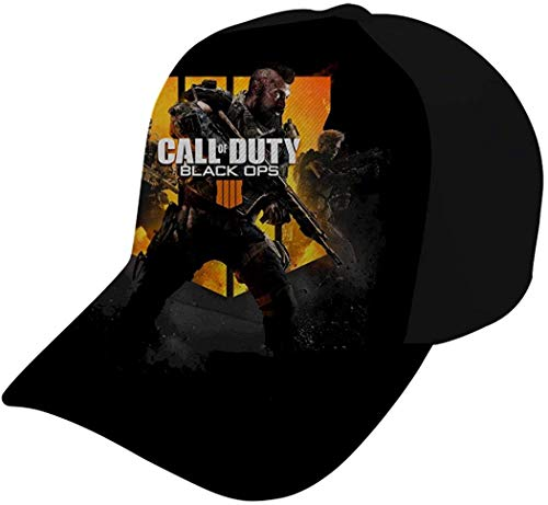 Kappe Deckel Hut 3D Printed Call of DU-ty Black O-ps 4 Baseball Hat Hip Hop Dancing Snapback Hat Adjustable Structured Breathable Eyelets Fits Men Women