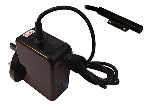 Power4Laptops AC Adapter Laptop Charger Power Supply (UK Plug) Compatible With Microsoft Surface Pro 7