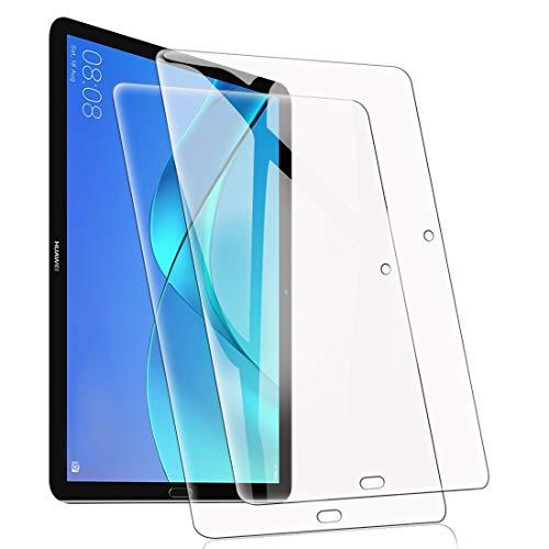 [2 Stück] Bildschirmschutzfolie für Huawei MediaPad T3 10 Zoll gehärtetes Glas mit [9H Festigkeit] [Blasenfreie Installation] Kratzfeste Anti-Fingerabdruck-Schutzfolie