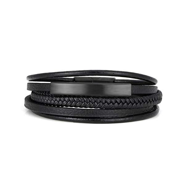 Jovivi 2 Pcs Unisex Bead Bracelet 3