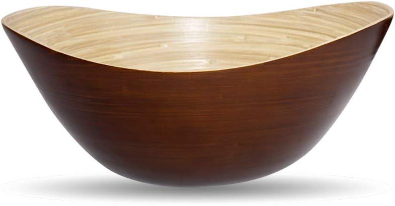 EUBIZ Manufacturer OFFicial shop Spun Bamboo Fruit Bowls for bowls Salad Super-cheap Fru Mixing