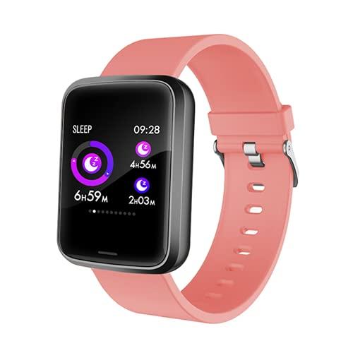 ADH Pulseras Inteligentes para Hombres Y Mujeres, con Monitor De Ritmo Cardíaco, Rastreador De Fitness De Presión Arterial, Pulsera Bluetooth, Función NFC, Adecuado para Android iOS,B