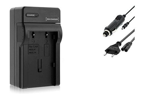 Ladegerät (Netz/KFZ) für Canon NB-2L / EOS 350D 400D / Rebel XTi/DC. MD. MV. - s. Liste