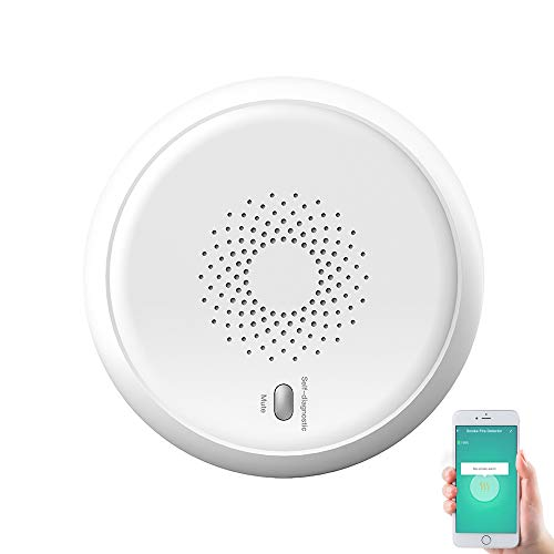 Detector de humo inteligente Tuya Zigbee, sensor de carbono CO de seguridad para el hogar, vinculado con la aplicación Tuya, protección contra la alarma de humo, detector de humo y monóxido de carbono