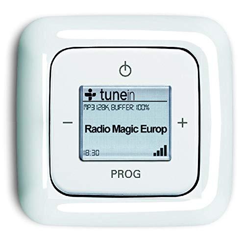 Busch Jäger Unterputz UP iNet Inernet WLAN Radio (8216U) ReflexSI alpinweiß glänzend - Set mit Radioeinheit 8216 U, Rahmen und Radioabdeckung