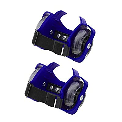 njiaomeibaihu Colorful Flashing Small Whirlwind Pulley Adjustable Simply Roller Skating Shoes