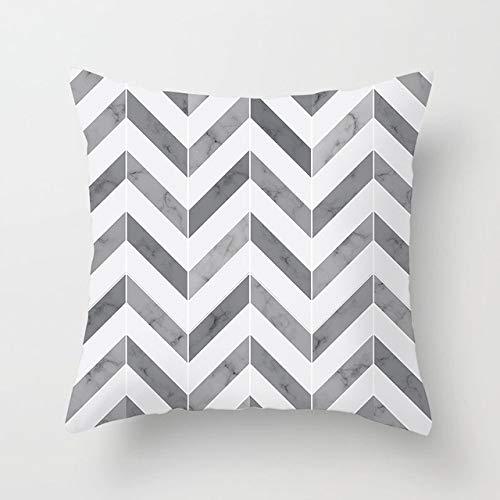 Geometric Cushion Cover Black And White Throw Pillowcase Stripe Cushion Cover Sofa Car Cushion 450mm*450mm 11