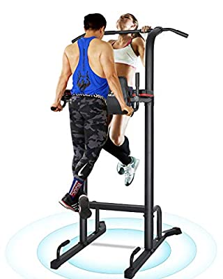 MaxKare Power Tower Pull Up Dip Station for Home Workout Multi-Function Stable Exercise Fitness Strength Training Equipment