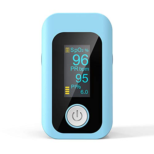 Pulse Oximeter, Oxygen Saturation Monitor Finger Pulse Monitor Child and Adult with LED Display