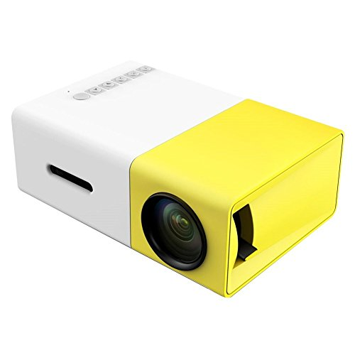 KUCE Mini proyector portátil compatible con 1080P Full HD Multimedia Home Cinema Proyector Xbox One / Xbox Series X / S / PS5 / PS4 / USB / SD / ACR