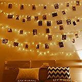 Anpro Clip de Cadena Luces LED Foto, 11M 110 LED,Tira de LUZ,Guirnaldas Luminosas para...