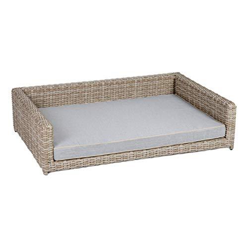 greemotion Hundsäng av polyrattan inklusive kudde, ca 65 x 25 x 50 cm