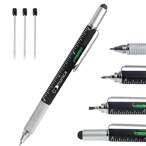 Penna Tattica Multifunzione 4 RICARICHE (1 interna 3 esterne) Penna Particolare come Regalo Uomo o Donna Gadget utili per Ufficio – Penna a Sfera