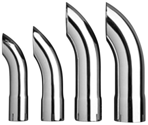 "U.S. Gear CTD-1500 1-1 2"" Double Chrome Plated Turn Down Exhaust Tip"