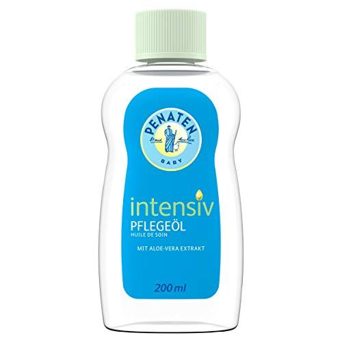 Penaten Intensiv Pflegeöl, besonders gut verträgliches Babyöl & Babypflege Massageöl zur sanften Reinigung und Pflege trockener Babyhaut (1 x 200ml)