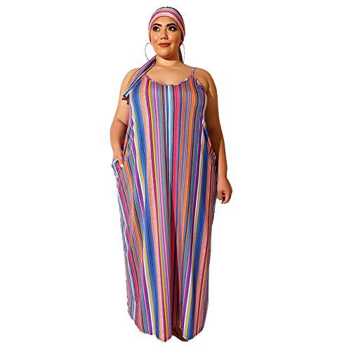 TONGxo Kleuren gedrukt bretels jurk vrouwen mouwloos open rug maat maxi lange jurk zomer strand casual jurk
