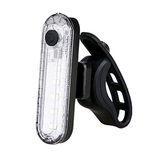 M-JJZX Luz Trasera de la Bicicleta, Luces traseras de la Bicicleta Recargable USB, 4 Modo LIGHTESS LED LED BIGE LUZ DE BICIDA para EL Casco DE Casco Advertencia DE Seguridad con IPX4 A Prueba de Agua