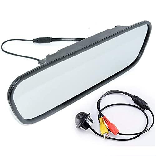 GOFORJUMP MiNi - Telecamera posteriore per retromarcia, con display TFT LCD HD a colori da 5 pollici da specchietto retrovisore