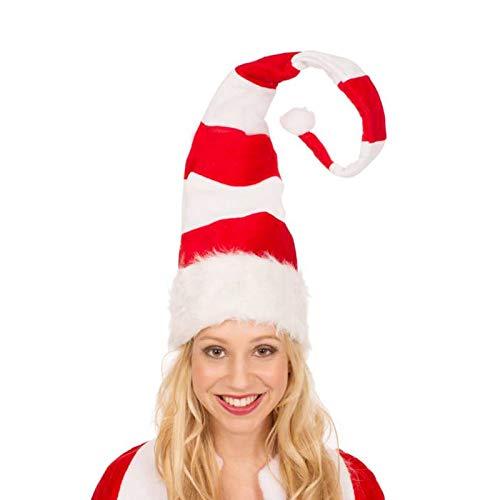 Gorro de Papá Noel,Rojo Sombrero Navideño Suave de Santa,Gorro de Navidad para adultos Niño, Gorro de Papá Noel de Navidad comodidad unisex (30X90 cm)