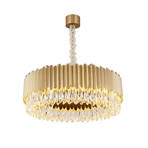 Candelabro Lámpara de ara?a Gloden, sala de estar de lujo, atmósfera de lámpara, hotel de lujo, villa, luz de cristal, contraída alrededor de la luz del dormitorio familiar H30 cm (tama?o:D 60 cm)