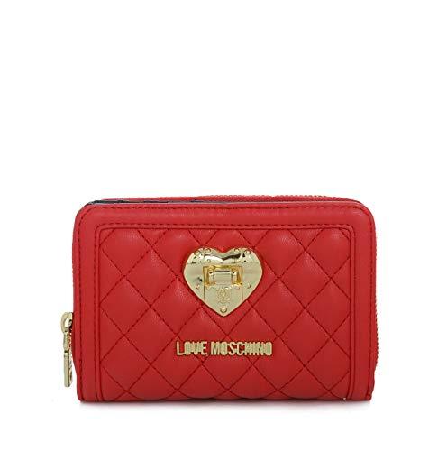Love Moschino Damen Women Portemonnaie Geldbörse Wallet Gesteppt (Rot)