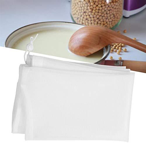 WEIHEEE Le Sac de Lait de Noix étamine réutilisable met en Sac Le Sac de passoire de Nourriture Le Sac de Filtre Fin de Maille,Transparent,Hauteur 55cm