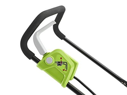 Greenworks 2501907 Tondeuse à gazon sans fil G40LM35 (Li-Ion 40 V largeur 35 cm à 500 m² Tondeuse déchiqueteuse 2 en 1 40 L Réglage de la hauteur de coupe du panier, 35 cm